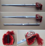 Scottish Basket Hilt Broadsword & Sheath
